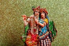Lord Krishna e Radha, deus indiano imagens de stock