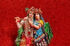 Lord Krishna e Radha, deus indiano imagem de stock royalty free