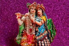 Lord Krishna e Radha, deus indiano fotografia de stock royalty free