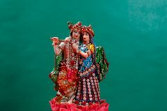 Lord Krishna et Radha, un dieu indien photos stock