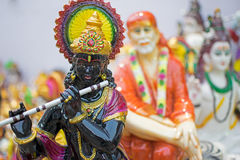 Lord Krishna, handicraft items on display , Kolkata. Clay idol of Lord Krishna, handicrafts on display during the Handicraft Fair in Kolkata , earlier Calcutta Royalty Free Stock Photography