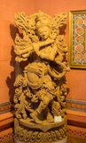 Lord Krishna Idol Playing Flute royaltyfri bild