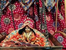 Lord Krishna im Babystadium lizenzfreie stockfotografie