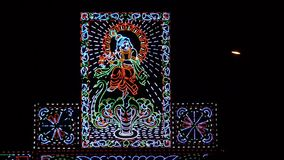 Lord Krishna lit with led lighting Royalty Free Stock Photos