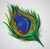 Lord Krishna Magical Feather. Stock Images