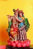Lord Krishna och Radha, indisk gud arkivfoton