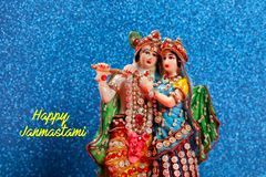 Lord Krishna och Radha, indisk gud royaltyfri foto