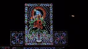 Lord Krishna s'est allumé avec l'éclairage mené Photos libres de droits
