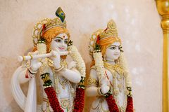 Lord Krishna und Radha stockbild