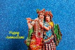 Lord Krishna und Radha, indischer Gott lizenzfreies stockfoto