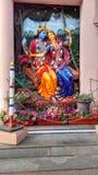 Lord Krishna y Radha imagenes de archivo
