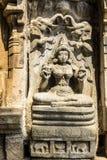 Lord Lakshmi skulptur arkivbild