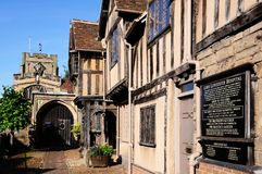 Lord Leycester Hospital, Warwick. Royalty Free Stock Image