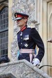 Lord Lieutenant du Hampshire adresse un défilé militaire Photos libres de droits