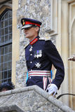 Lord Lieutenant of Hampshire addresses a military parade royalty free stock photos