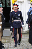 Lord Lieutenant of Hampshire inspecting a military parade Royalty Free Stock Images
