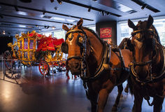 The Lord Mayors Coach in the Museum of London Royalty Free Stock Photos
