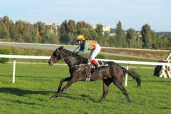 Lord meran in horse racing in Prague Stock Images