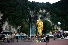 Lord muragan batu cave kuala lumpur. With steps in the background leading to a religious cave Stock Photos