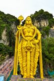 Lord Muruga, Batu caves Kuala Lumpur, Malaysia. Lord Murugan Statue is the tallest statue of a Hindu deity in Malaysia and second tallest statue of a Hindu Royalty Free Stock Image