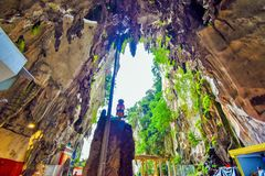 Lord Muruga, Batu caves Kuala Lumpur, Malaysia. Lord Murugan Statue is the tallest statue of a Hindu deity in Malaysia and second tallest statue of a Hindu Royalty Free Stock Images