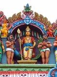 Lord Muruga con i suoi discepoli Immagine Stock