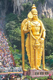 Lord Murugan And The Crowd At Batu Cave Thaipusam Royalty Free Stock Photos