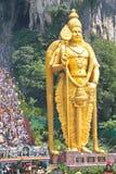 Lord Murugan And The Crowd At Batu Cave Thaipusam Royalty Free Stock Photos