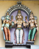 Lord Murugan and his two wives. Stock Photo