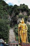 Lord Murugan Statue aux cavernes de Batu, Malaisie, janvier 2013 photos stock