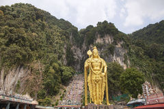Lord Murugan Statue at Batu Caves Royalty Free Stock Image