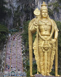 Lord Murugan Statue at Batu Caves Entrance Stock Photos