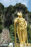 Lord Murugan Statue bij Batu Holen Thaipusam Stock Afbeeldingen