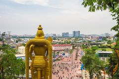 Lord Murugan Statue at the entry to Batu Caves near Kuala Lumpur, Malaysia royalty free stock images