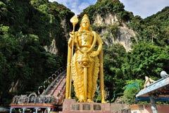 Lord Murugan Staty, Batu grottor Arkivfoto