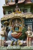 Lord Murugan and wives on Gopuram. Stock Image