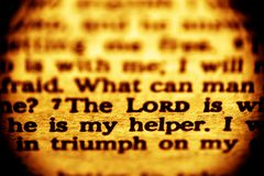 The Lord is my helper royalty free stock photography