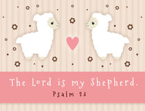 Lord Is My Shepherd stock abbildung
