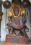 Lord Narasimha killing Hiranyakashipu Stock Image
