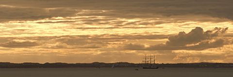 Lord Nelson panorama Royalty Free Stock Images