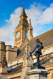 Lord Oliver Cromwell statue outside Palace of Westminster in Lon Royalty Free Stock Photography