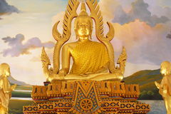 Lord President in the Buddhist Church. At Buraparam temple in Surin Province of Thailand stock illustration