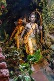 Lord Ram ed suo fratello Laxaman, museo della scultura, per la matematica di Kaneri, Kolhapur, maharashtra Fotografia Stock
