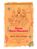 Lord Ram, Sita, Laxmana, Hanuman and Ravana in Ram Navami Stock Photography