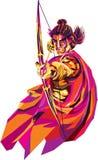 Lord Rama, él s el séptimo avatar de dios hindú Vishnu, y un rey de Ayodhya en escrituras hindúes ilustración del vector