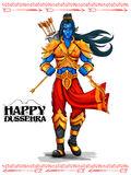 Lord Rama with arrow in Dussehra Navratri festival of India poster Stock Photos