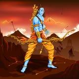 Lord Rama with arrow killing Ravana Royalty Free Stock Image