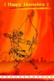 Lord Rama with bow arrow killimg Ravana Stock Photo