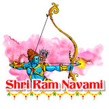 Lord Rama with bow arrow in Ram Navami Stock Images
