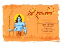 Lord Rama con la freccia dell'arco in Ram Navami illustrazione vettoriale